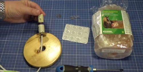 cómo hacer lámpara de sal