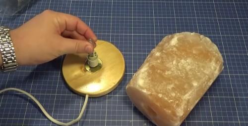 como hacer lampara de sal
