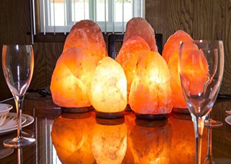 lampara de piedra de sal
