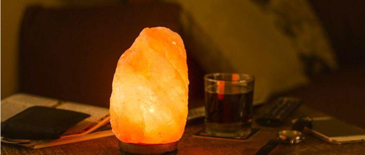 lampara de sal de roca
